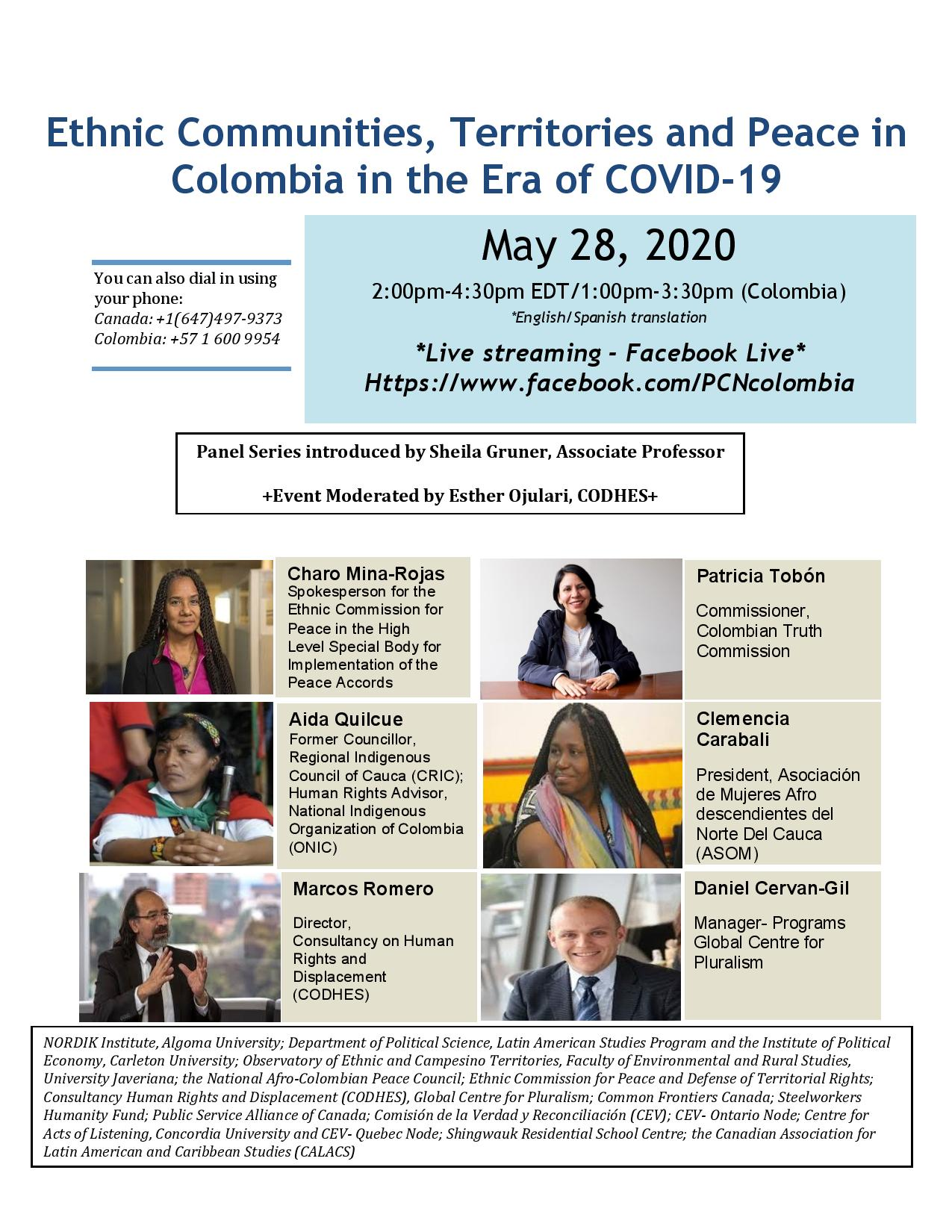 Ethnic Communities, Territories and Peace in Colombia in the Era of COVID-19